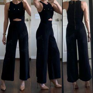 NBD X Naven Revolve black cut out jumpsuit